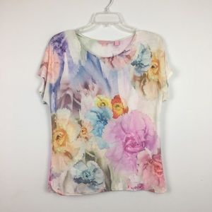Ted Baker London Floral Pastel Watercolor Tee. 2